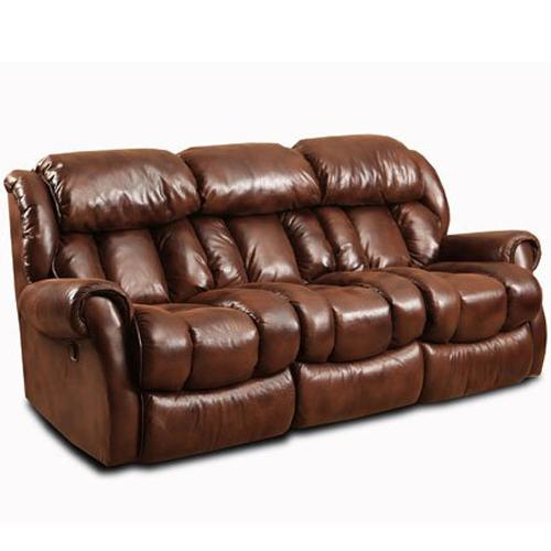 Casual Power Reclining Sofa with Channel Back