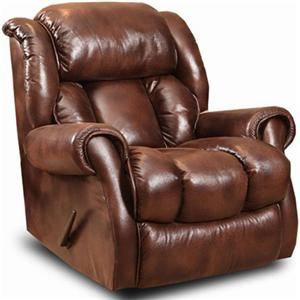 Casual Rocker Recliner with Channel Back
