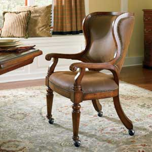 Hooker Furniture Waverly Place Castered Game Chair