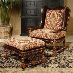 Century Century Chair Cadbury Wing Chair and Ottoman