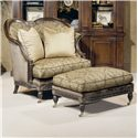 Century Century Chair Armchair with Hart Shaped Back  and Matching Ottoman