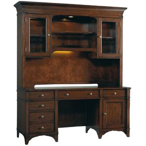 Hooker Furniture Abbott Place Computer Credenza with Hutch