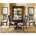 Hooker Furniture Abbott Place 3 Piece Table & Chair Set - Item Number: 637-75-203+2X410
