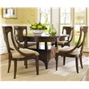 Hooker Furniture Abbott Place Round Dining/Counter Height Table - Shown Dining Height with Sling Back Chairs