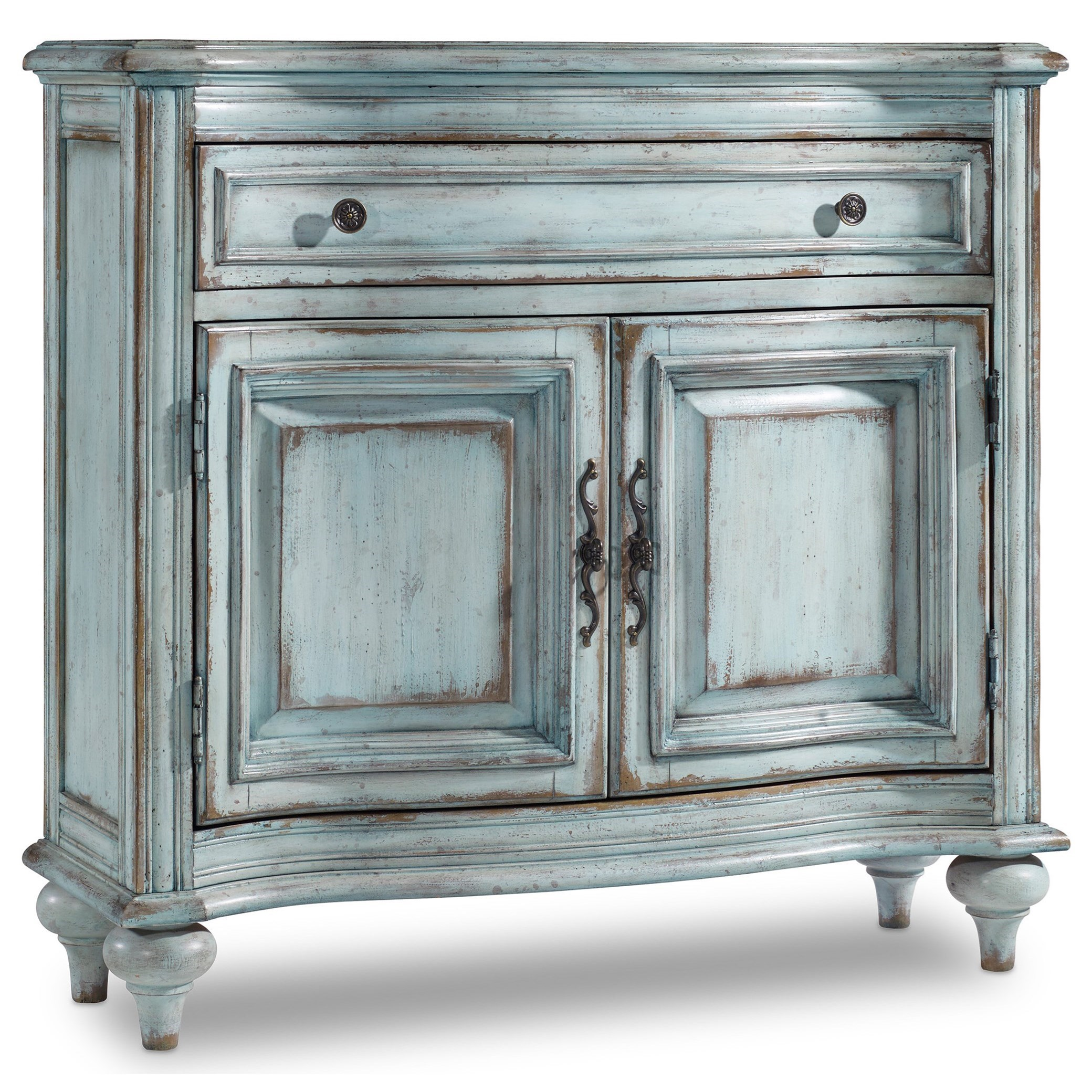 distressed blue furniture. 1-Drawer 2-Door Chest In Distressed Blue Finish Furniture I