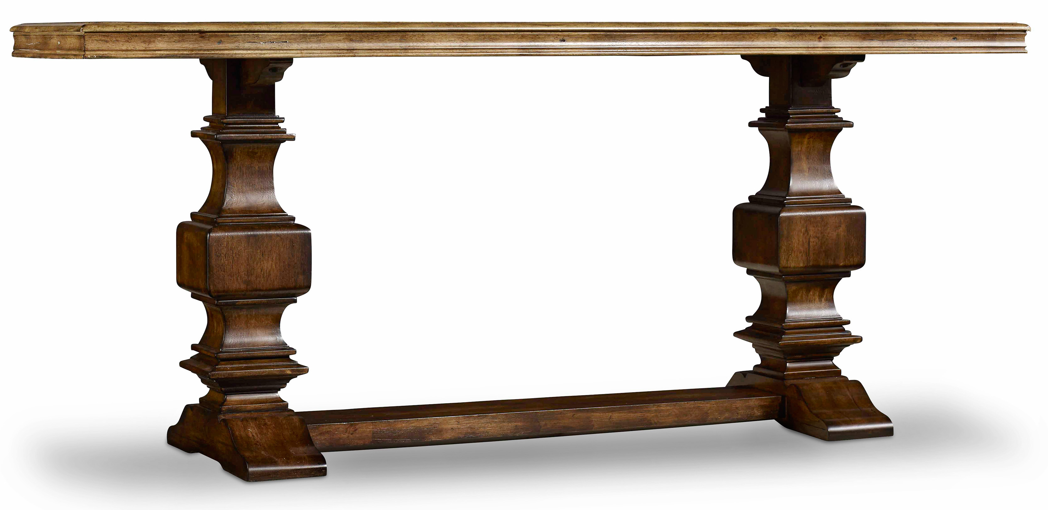 Console Table With Two Tone Finish