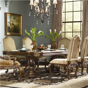 Hooker Furniture Beladora Double Pedestal Dining Table