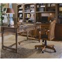 Hooker Furniture Brookhaven Tilt Swivel Desk Chair - Shown with Table Desk