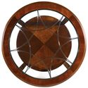 Hooker Furniture Brookhaven Round Cocktail Table - Decorative Metal Accent Under Glass Top