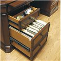 Hooker Furniture Cherry Creek  Traditional Executive Desk - Writing Surface, Divided Drawer, and Filing Drawer
