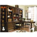 Hooker Furniture Cherry Creek  Traditional Wall Desk - Shown with Lateral File with Hutch, Desk Chair, Wall Desk with Hutch, and Partner Desk