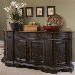 Hooker Furniture Chests and Consoles Black Serpentine Credenza