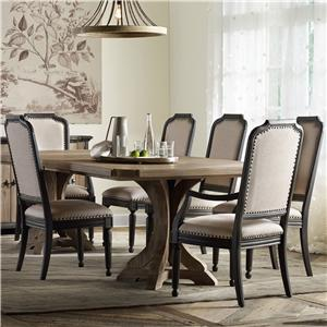 Hooker Furniture Corsica Rectangle Pedestal Dining Table Set