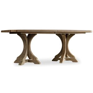 Hooker Furniture Corsica Rectangle Pedestal Dining Table