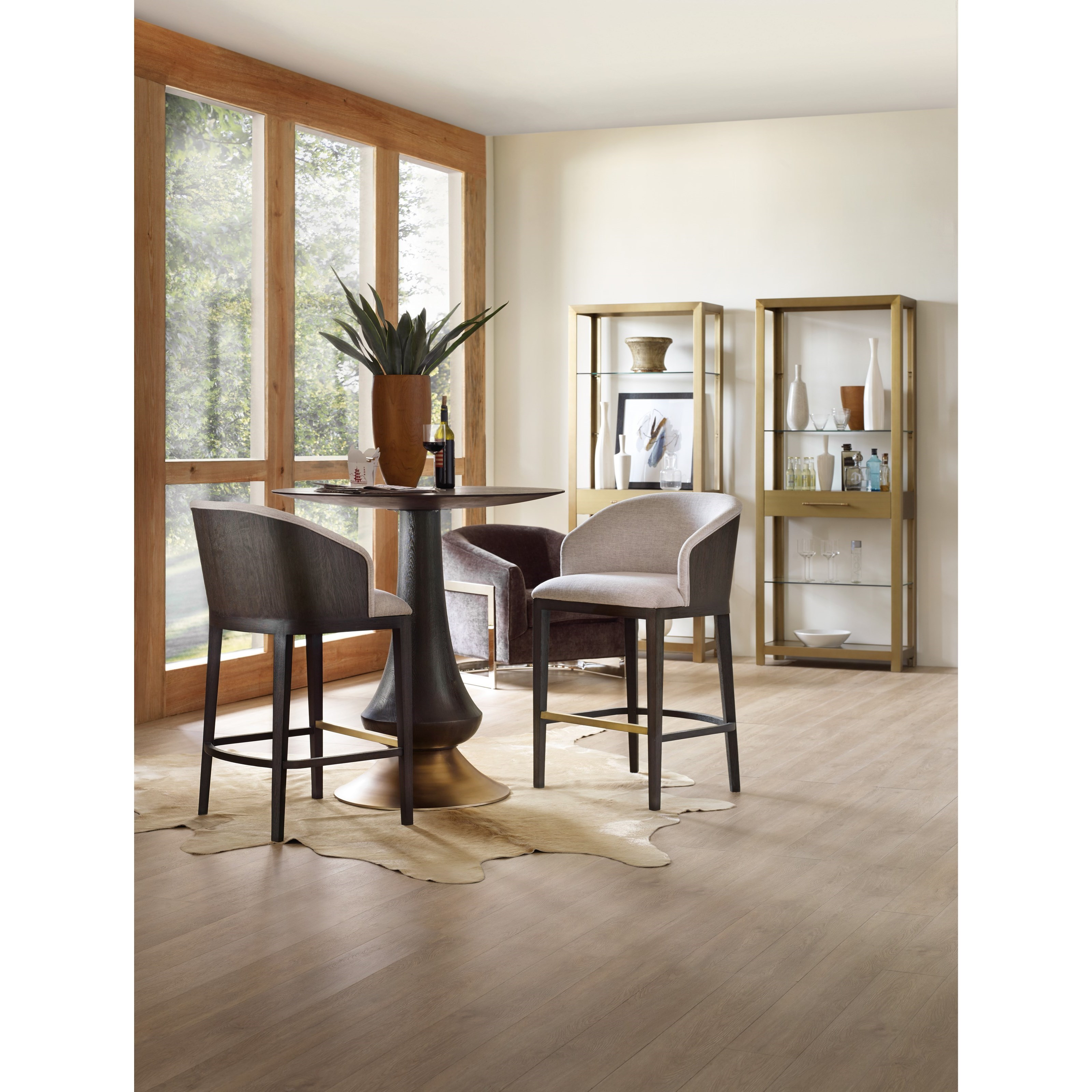 modern pub table by hooker furniture  wolf and gardiner wolf  - modern pub table
