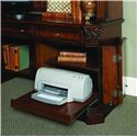 Hooker Furniture European Renaissance II Knee-Hole Computer Credenza - Printer Pull-Out Tray