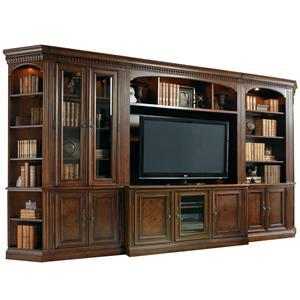Hooker Furniture European Renaissance II Six-Piece Entertainment Wall