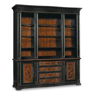 Hooker Furniture Grandover Bookcase Base and Hutch Combo
