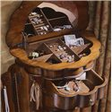 Hooker Furniture Seven Seas Shaped Jewelry Chest - Felt Lined Compartments