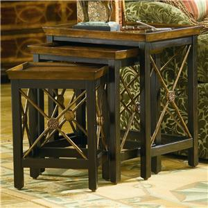 Hooker Furniture Seven Seas Nest of Three Table w/ Medallion Motif