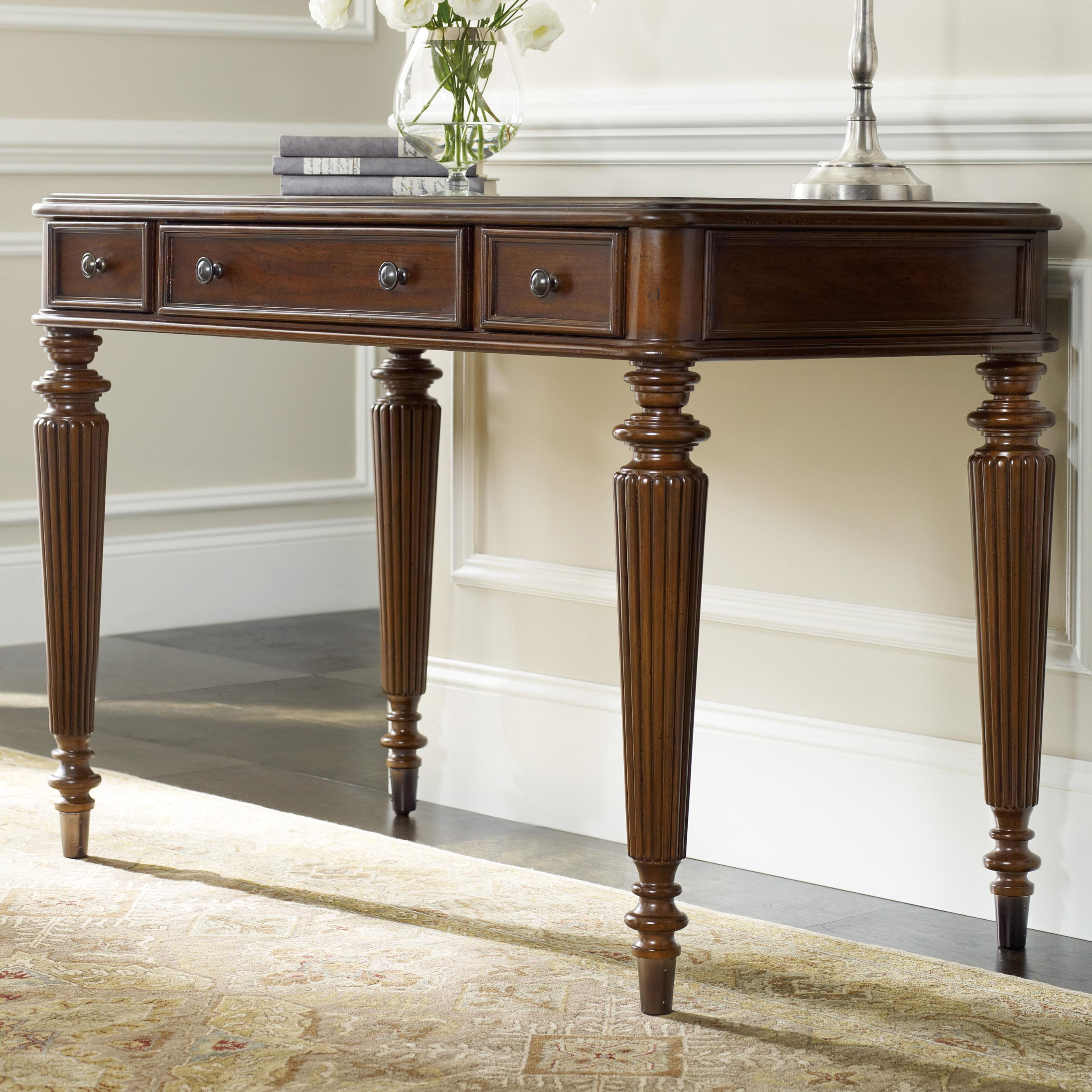3 Drawer Leg Desk With Fluted Detail