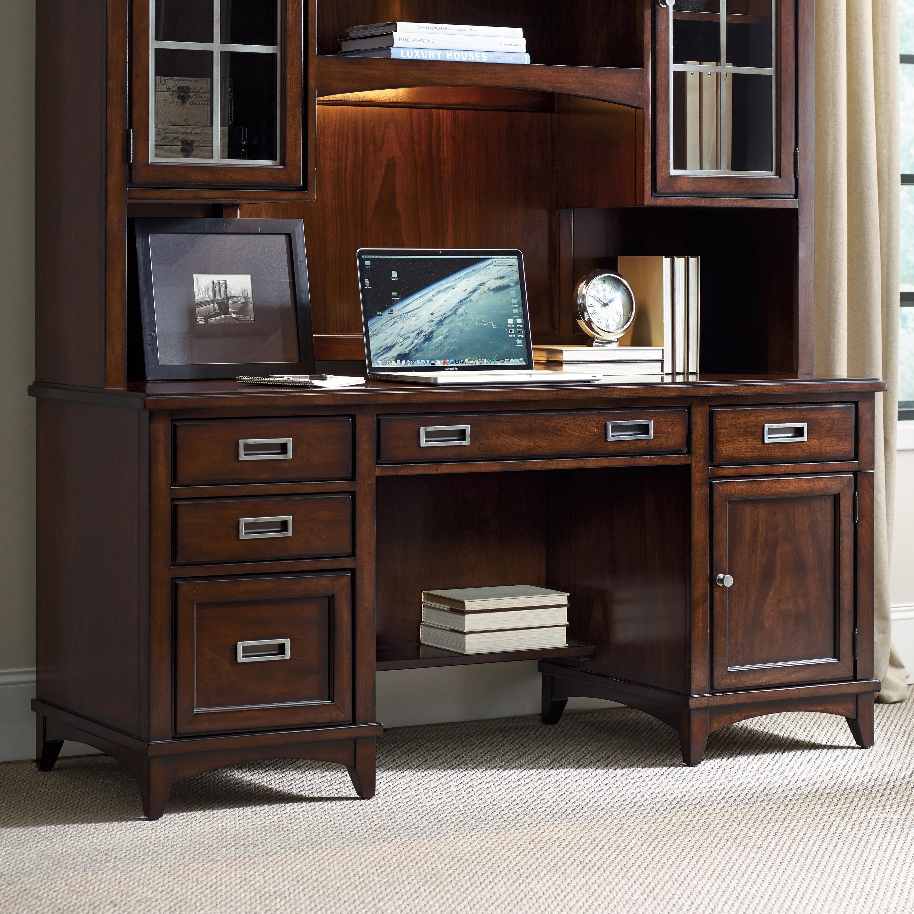 Walnut Computer Credenza by Hooker Furniture | Wolf and Gardiner ...