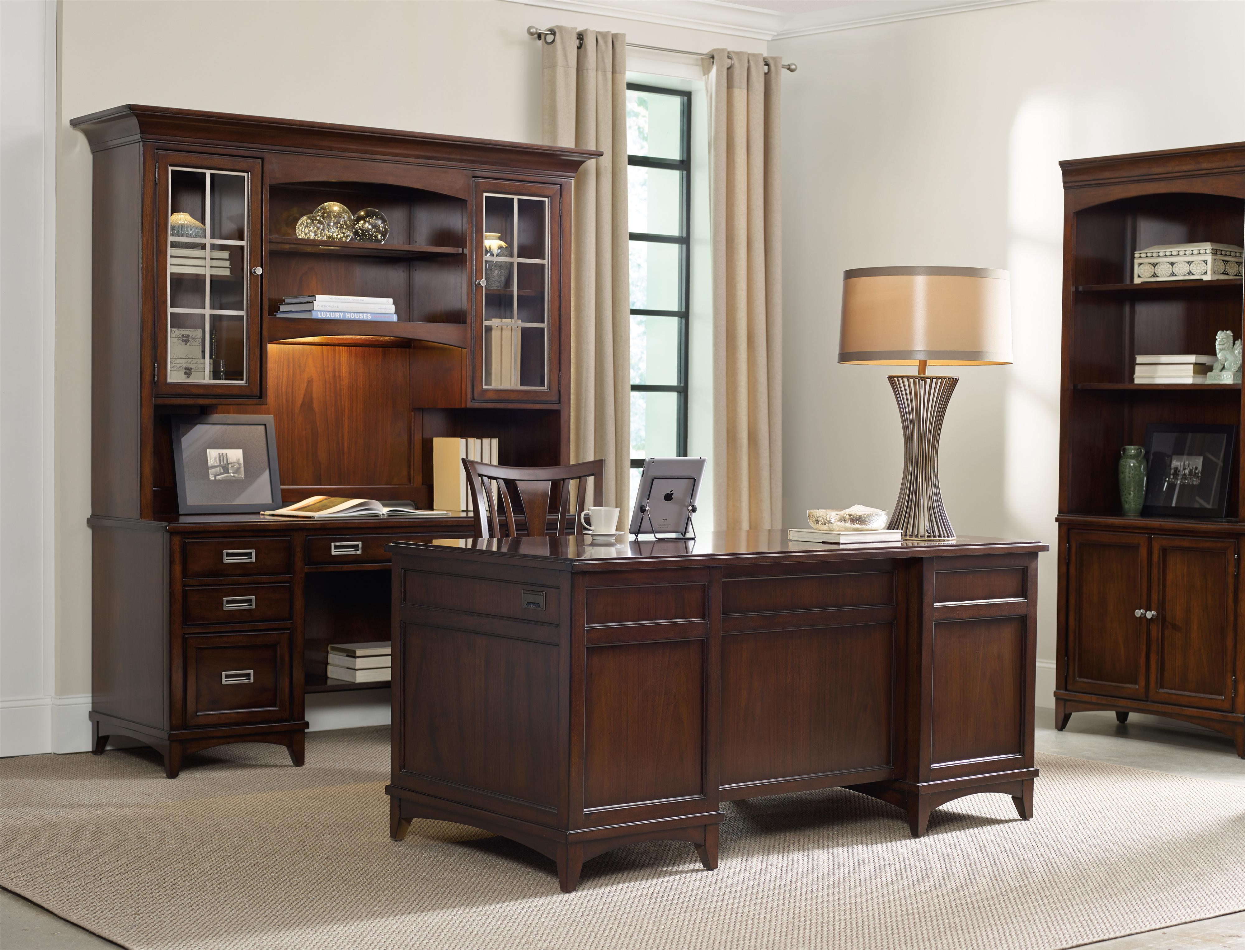 vintage hooker furniture desk. walnut new-vintage executive desk with filing drawers vintage hooker furniture