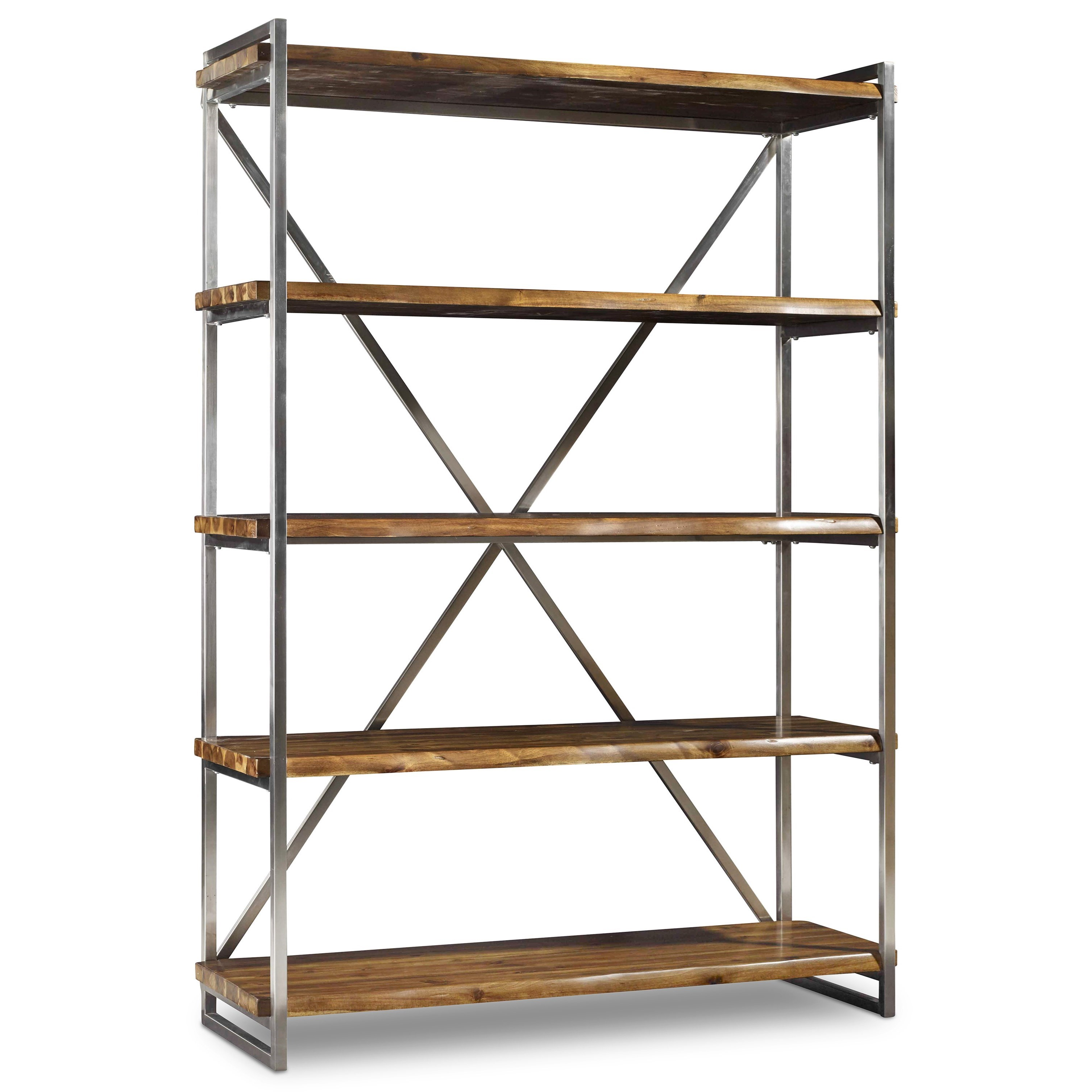 rustic etagere with live edge shelveshooker furniture | wolf