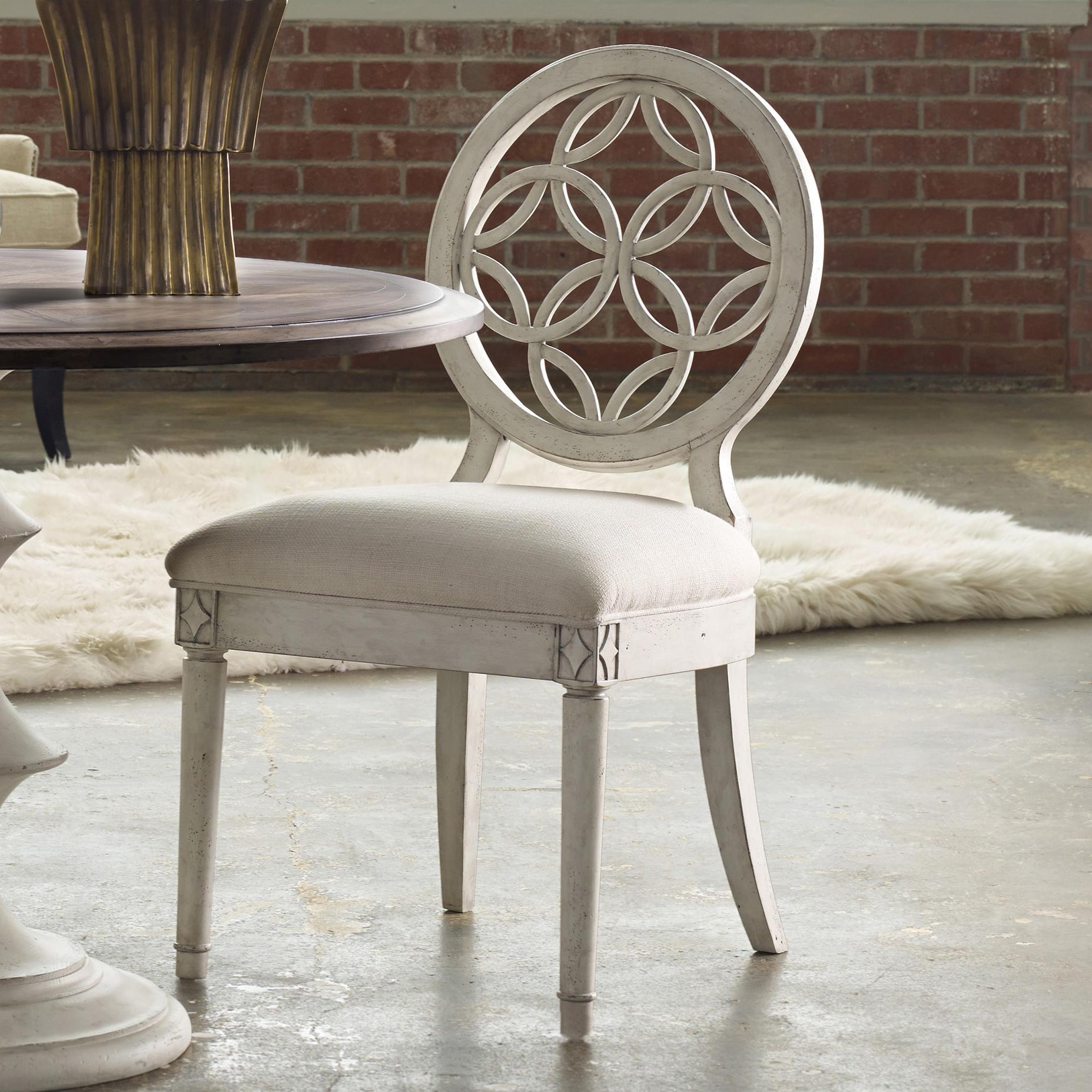 Brynlee Side Chair with Circle Fretwork Pattern by Hooker