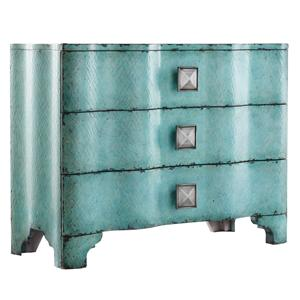 Hooker Furniture Mélange Turquoise Crackle Chest