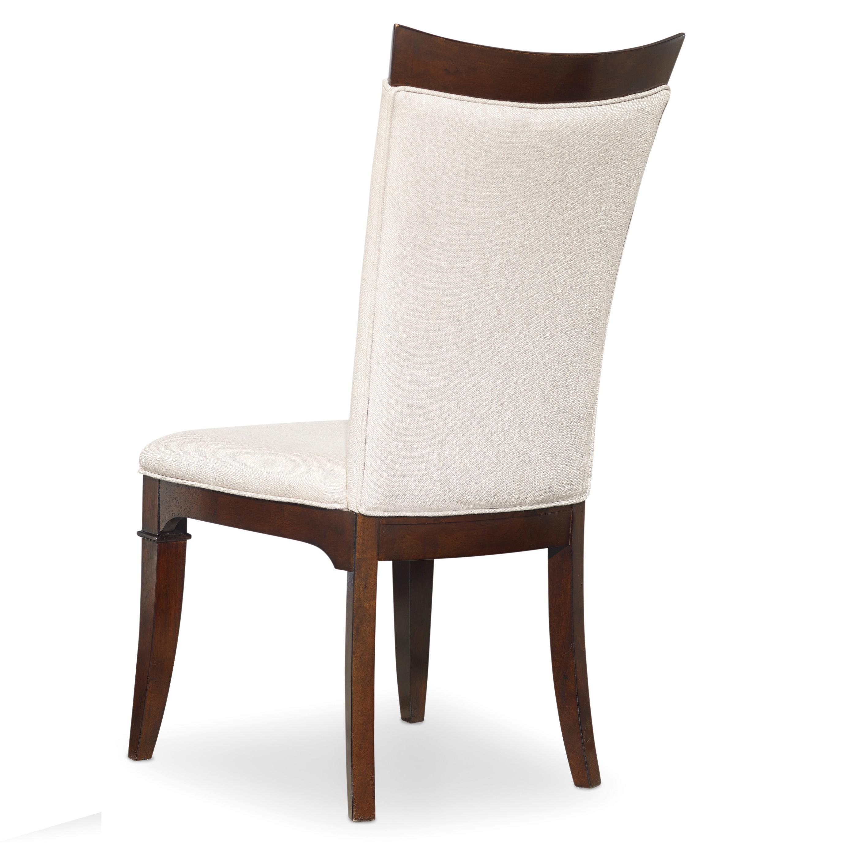 Upholstered Parsons Style Side Chair With Wood Trim