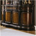Hooker Furniture Preston Ridge Shaped Buffet with Four Doors & Three Drawers