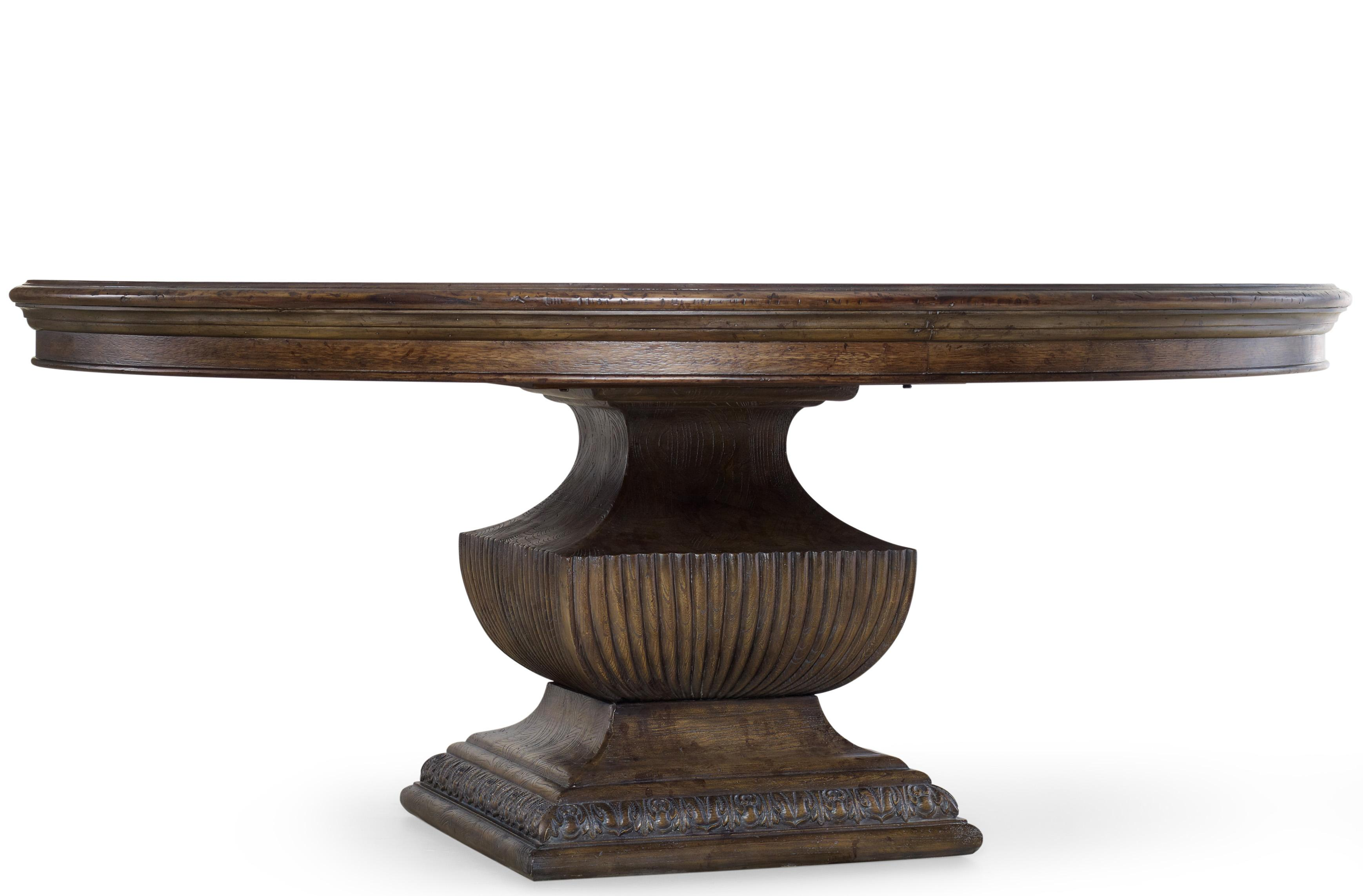 dining round semi formal table room tables pedestal for inch decor