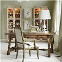 Hooker Furniture Sanctuary Two Door Thin Display Cabinet - Shown with Writing Desk