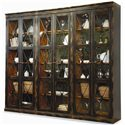 Hooker Furniture Sanctuary Two Door Thin Display Cabinet - Shown with Three Together