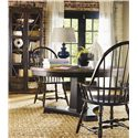 Hooker Furniture Sanctuary Windsor Side Chair - Shown with Dining Table