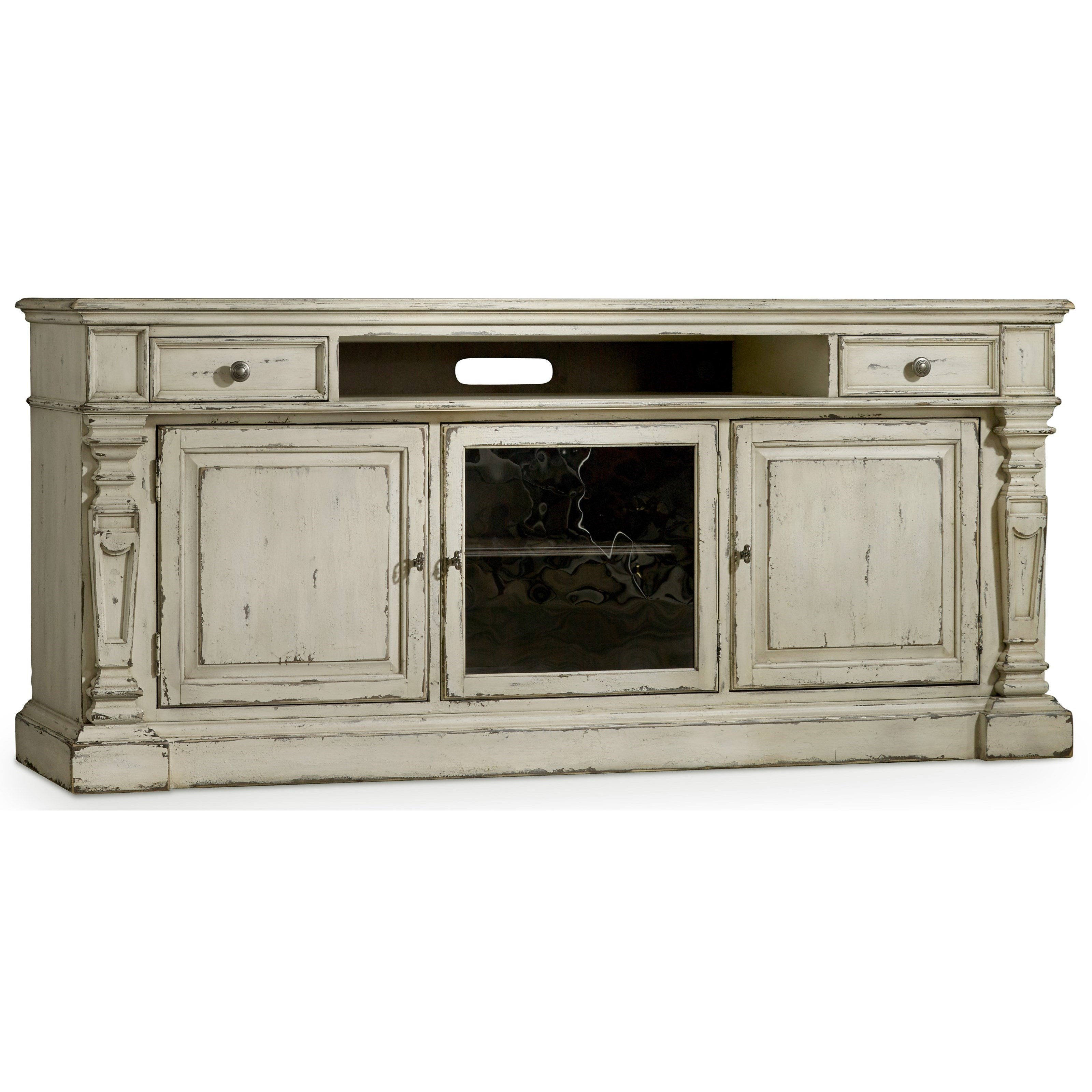 By Hooker Furniture. Entertainment Console With Center Channel Speaker Area