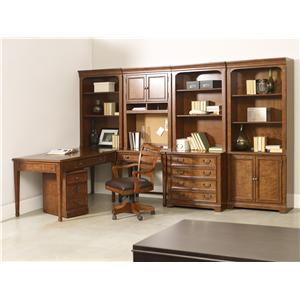 1457 Main Shelton Desk and Bookcase Combination