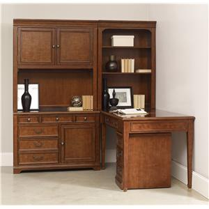 1457 Main Shelton Office Bookcase and Desk Combination