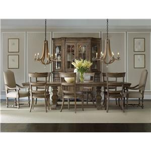 Hooker Furniture Sorella Rectangular Table with Mixed Style Chairs