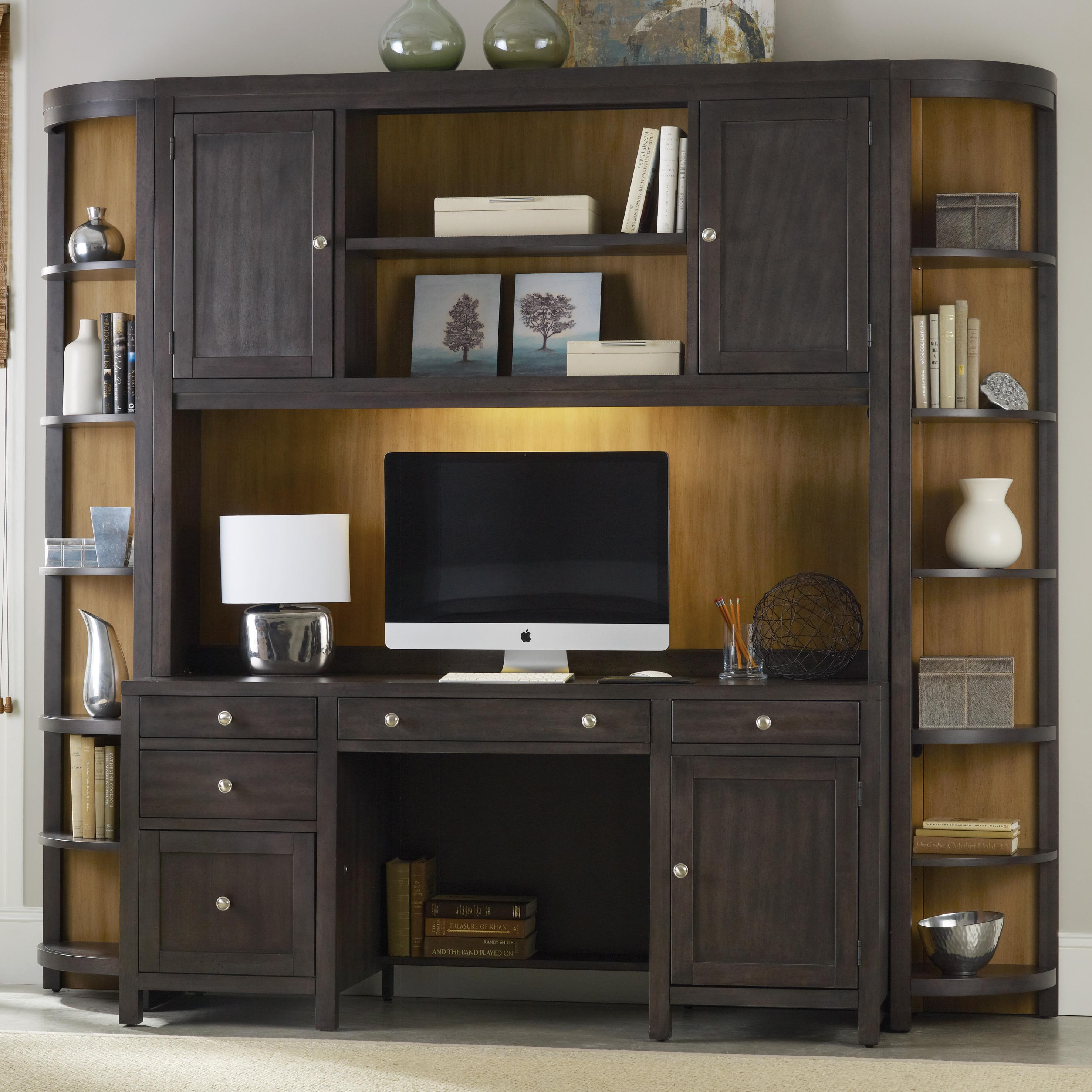 Computer Credenza Wall Unit with Power Bar by Hooker Furniture ...