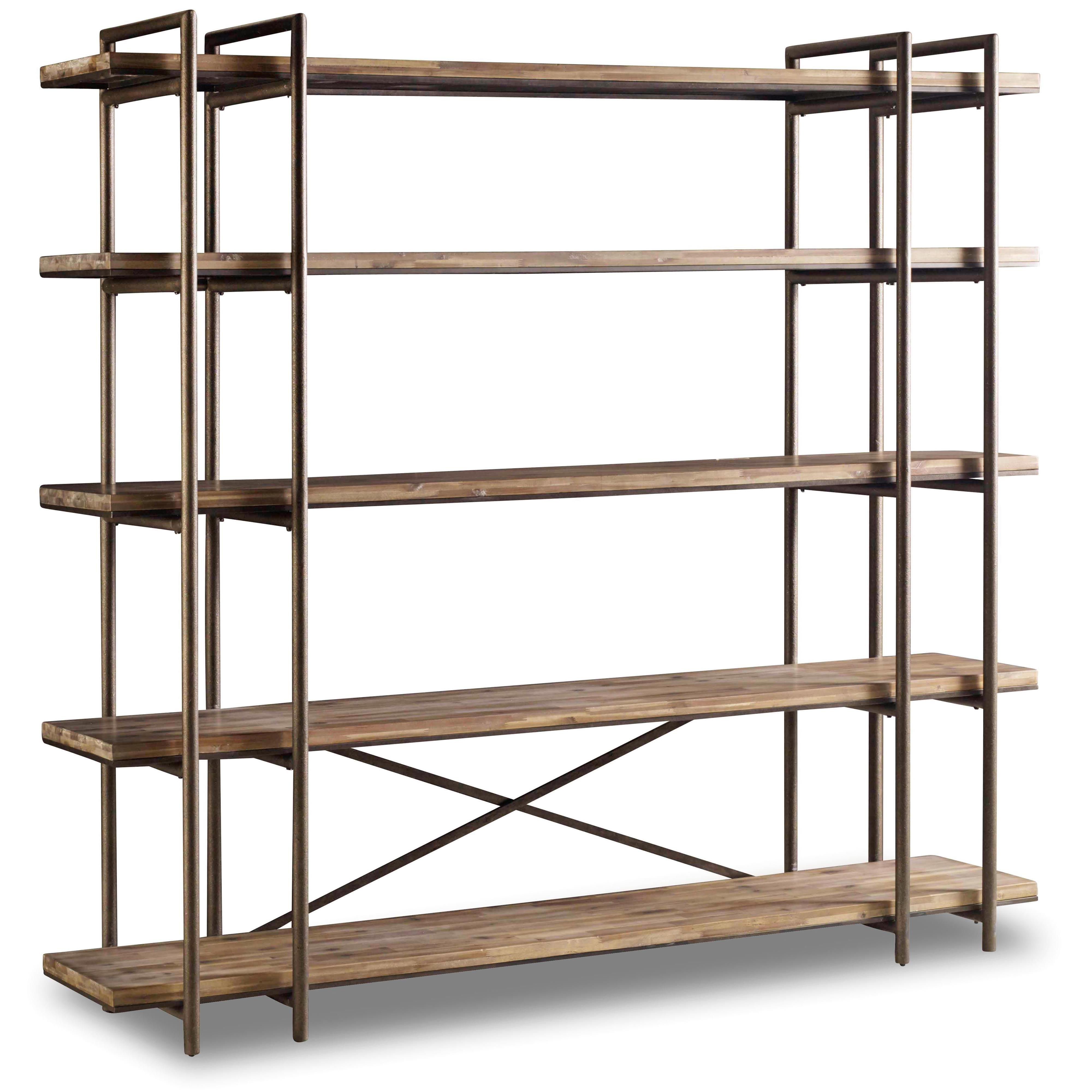 Charming By Hooker Furniture. Scaffold Bookcase/Entertainment Console With 5 Shelves
