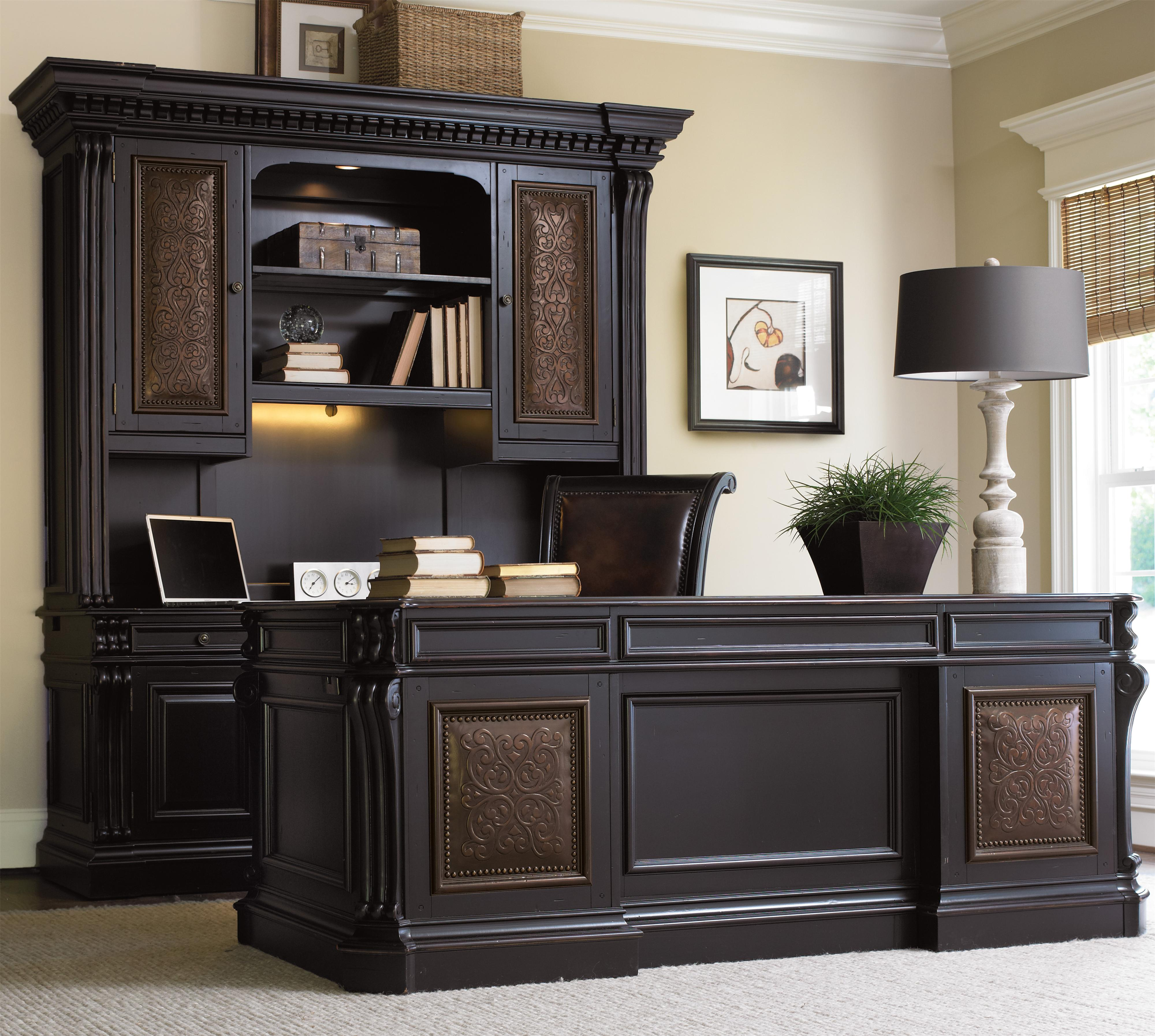 executive wood dark haddon hooker in furniture p hall desk