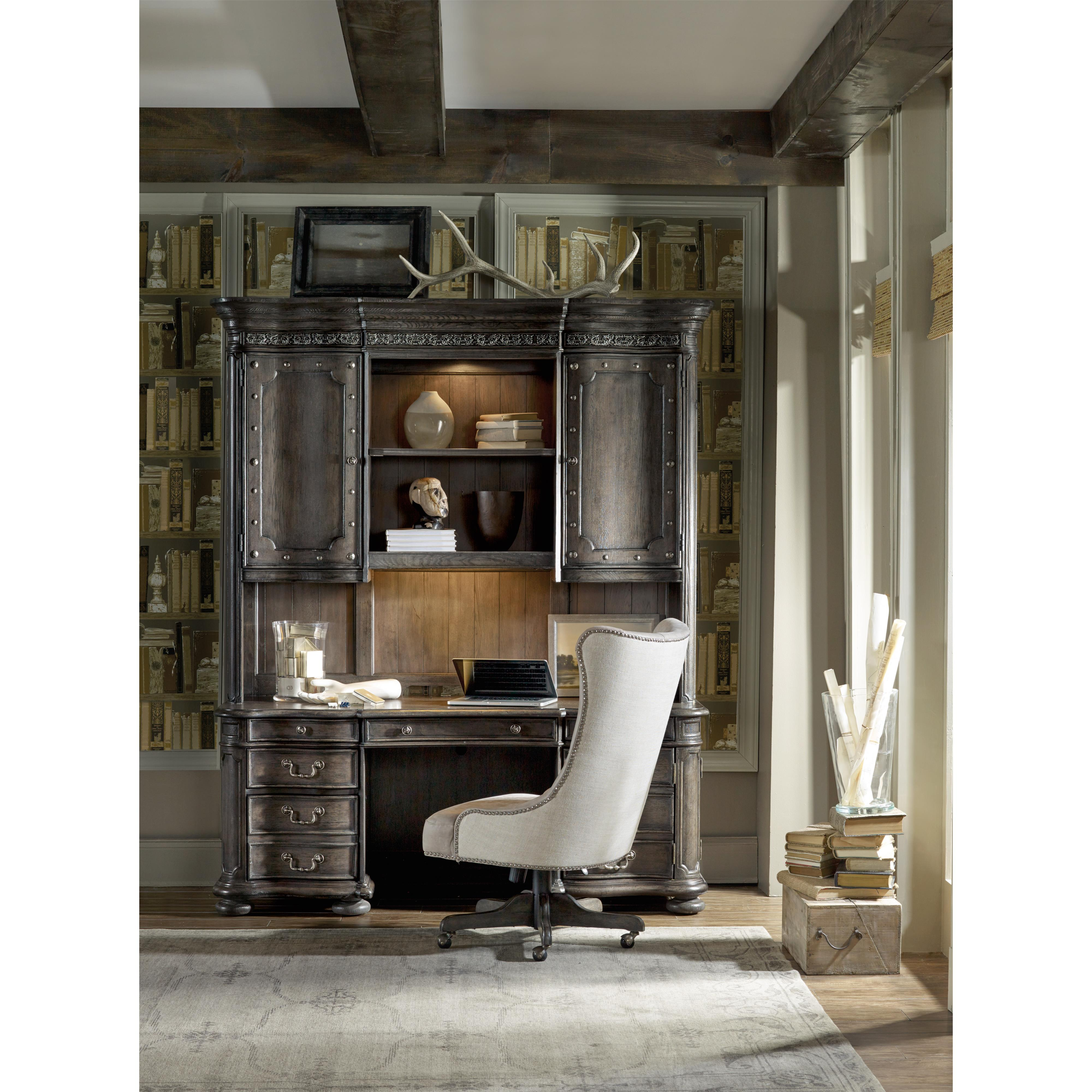 group european wallpapers desk executive hd furniture ii hooker renaissance