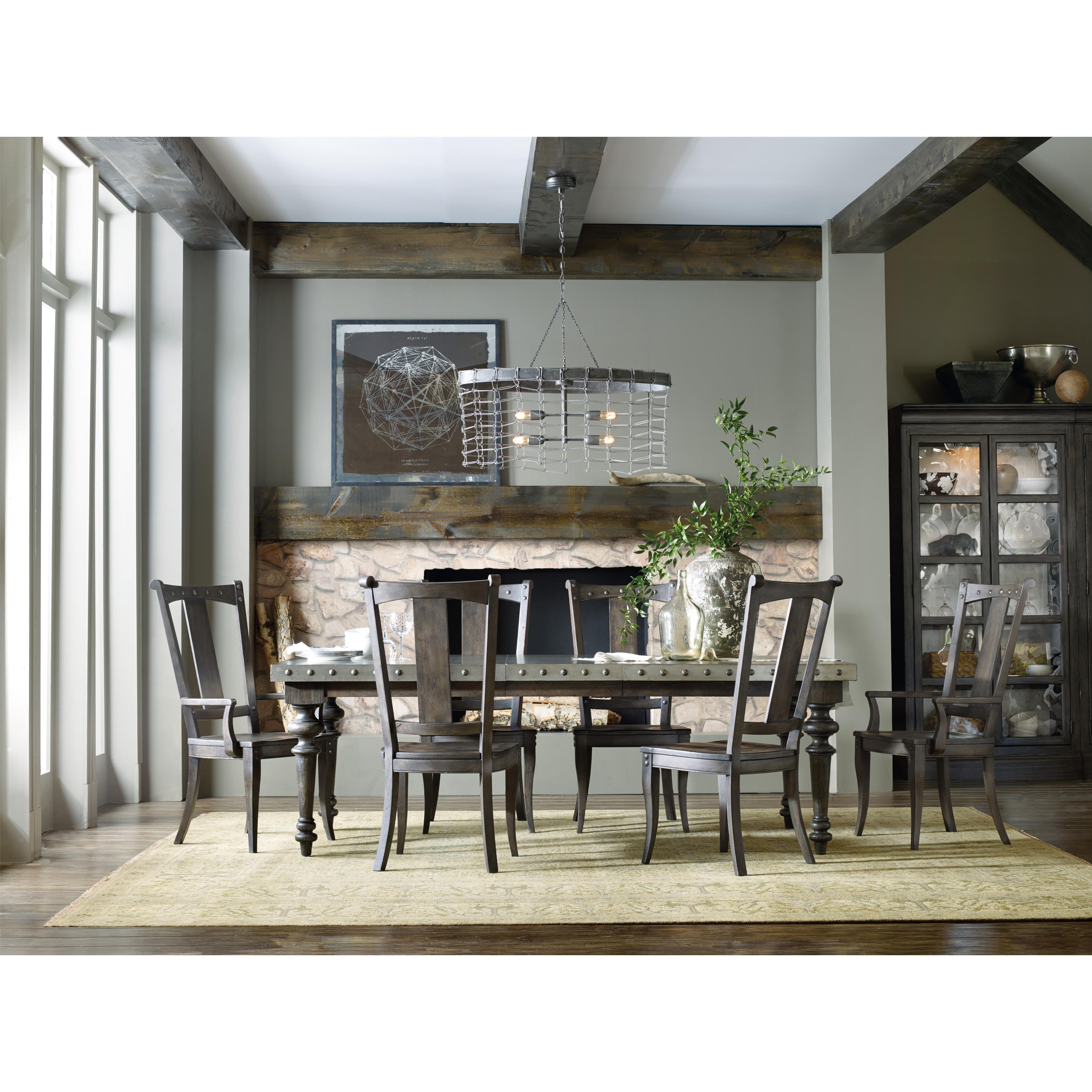 Rectangular Dining Table with Aluminum Top by Hooker Furniture ...