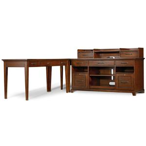 1457 Main Wendover Four Piece L-Shaped Office Unit