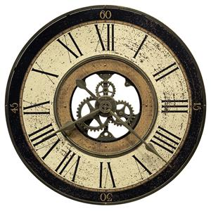 Howard Miller 625 Series Brass Works Wall Clock