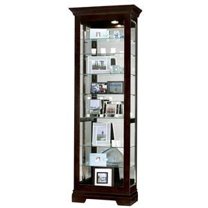 Howard Miller Furniture Trend Designs Curios Saloman Display Cabinet