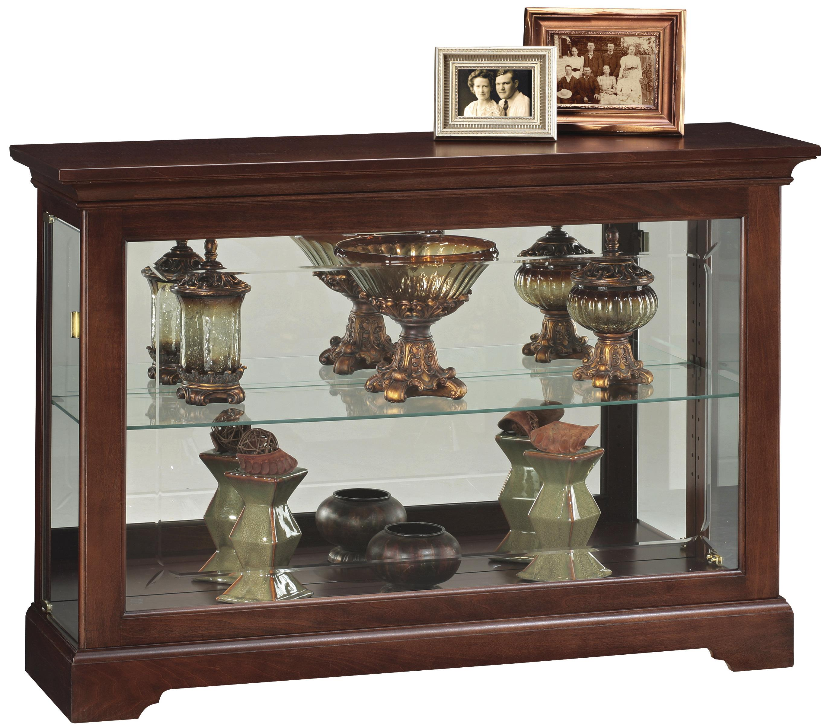 short curio cabinet with 1 glass shelf