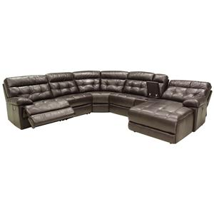 HTL 2775 6 Pc Reclining Sectional Sofa w/ RAF Chaise